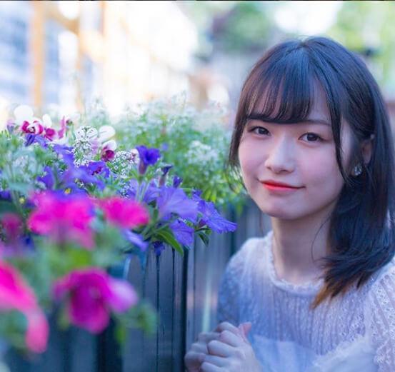 本田みく_花が似合う美女